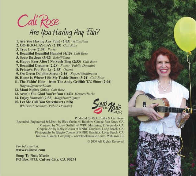 back cover of album