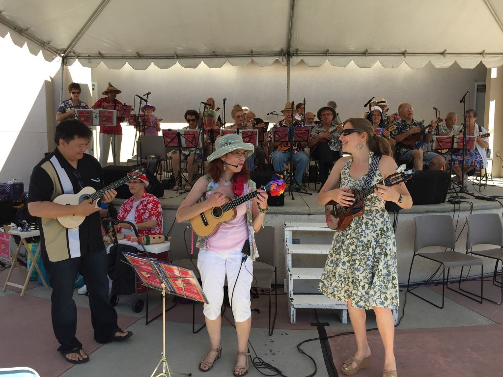 The CC Strummers, Craig Chee, Sarah Maisel and myself at The Los Angeles International Ukulele Festival. 9/2015 Thank you Tammy for the picture.