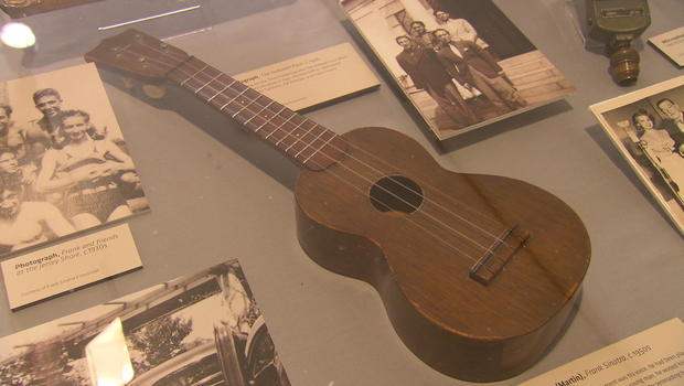 "Frank Sinatra's ukulele he played to ""woo"" his first wife. As for the next three wives, who knows..."