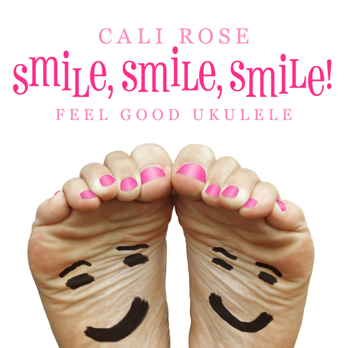 cd cover two bare feet with smiles drawn on soles