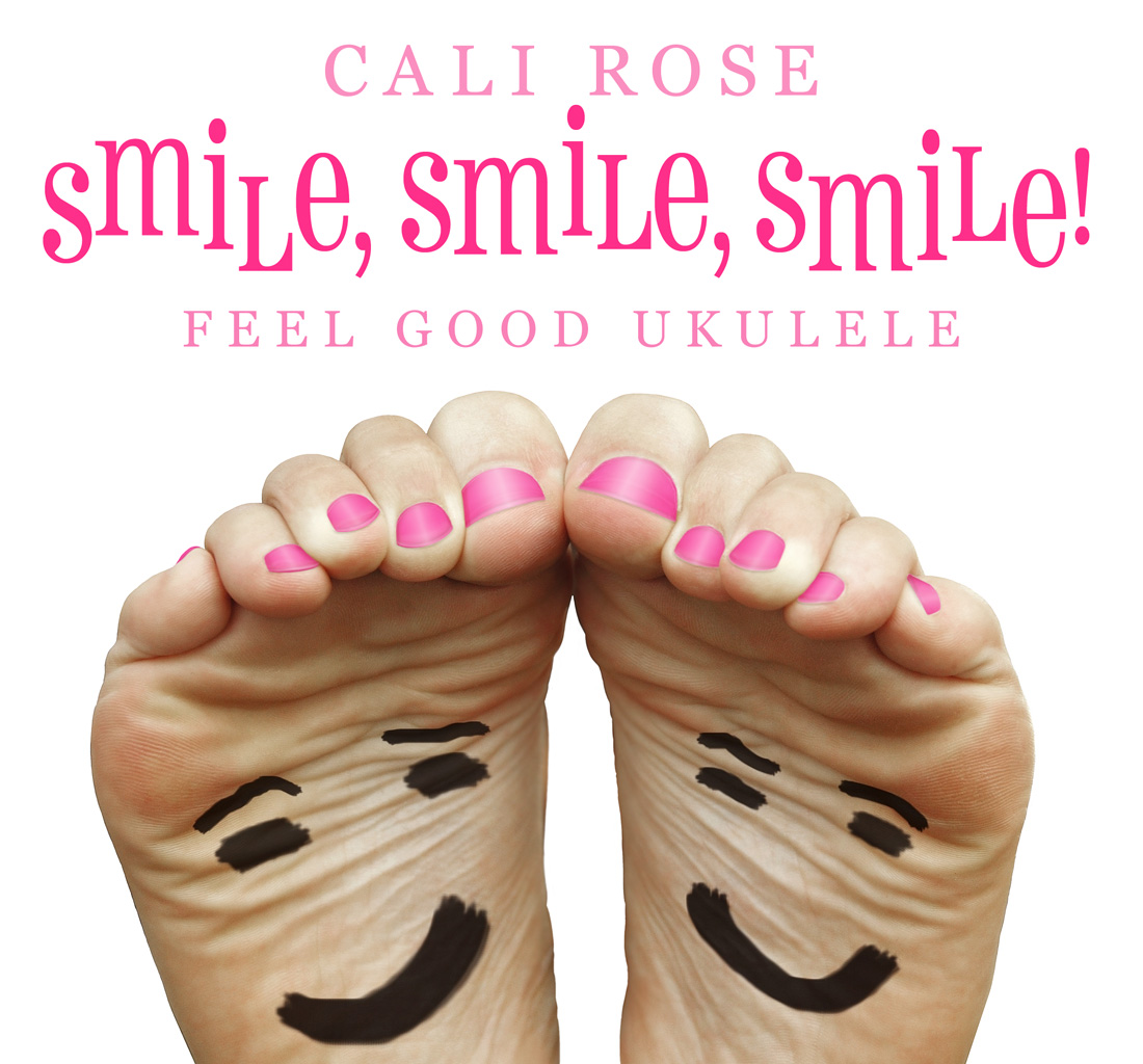 smile smile smiles album cover, two bare feet with smiley faces drawn on soles