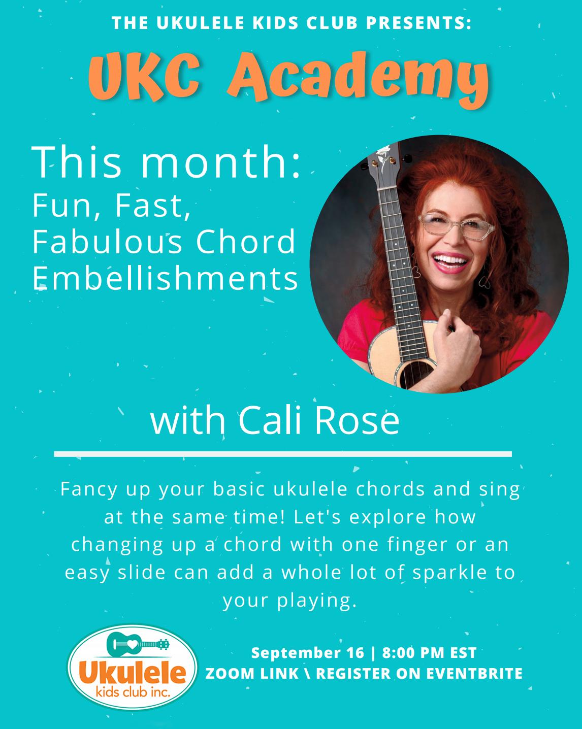 a flyer for a ukulele event held september 2020